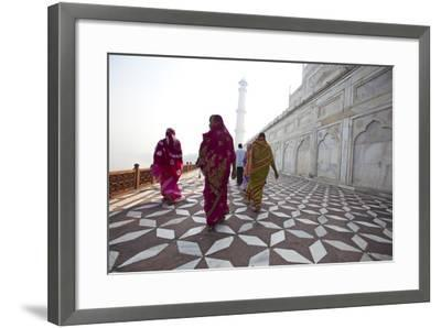 Visitors Approach a Minaret-Michael Melford-Framed Photographic Print
