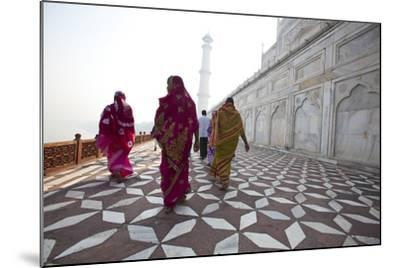 Visitors Approach a Minaret-Michael Melford-Mounted Photographic Print