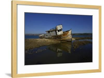 The Wreck of a Fishing Boat-Raul Touzon-Framed Photographic Print