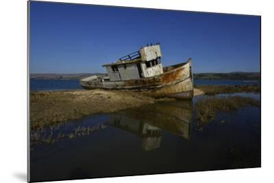 The Wreck of a Fishing Boat-Raul Touzon-Mounted Photographic Print