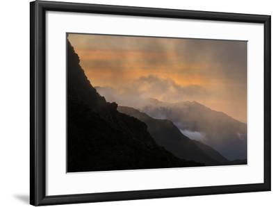 Sunset Above Fox Glacier-Michael Melford-Framed Photographic Print