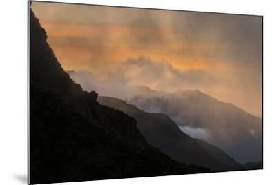 Sunset Above Fox Glacier-Michael Melford-Mounted Photographic Print