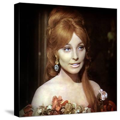Fearless Vampire Killers or Pardon Me Your Teeth are in My Neck. Roman Polanski, Sharon Tate, 1967--Stretched Canvas Print