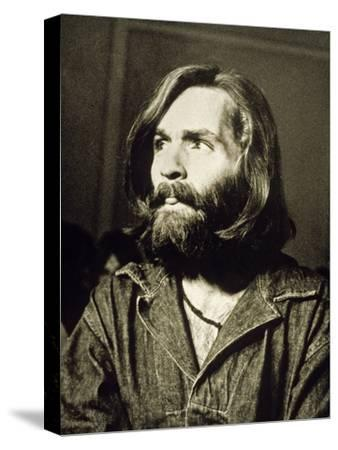 Serial Killer Charles Manson on December 3, 1969 During His Arrest in Sharon Tate Affair--Stretched Canvas Print