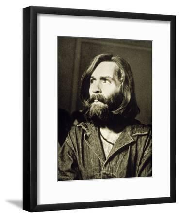Serial Killer Charles Manson on December 3, 1969 During His Arrest in Sharon Tate Affair--Framed Photo