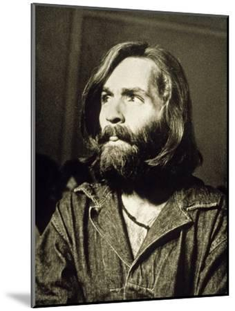 Serial Killer Charles Manson on December 3, 1969 During His Arrest in Sharon Tate Affair--Mounted Photo