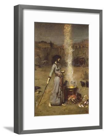 The Magic Circle-John William Waterhouse-Framed Premium Giclee Print