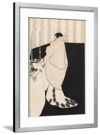 La Dame Aux Camelias-Aubrey Beardsley-Framed Giclee Print