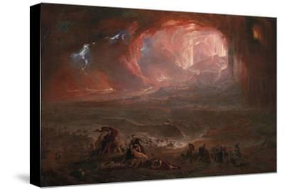The Destruction of Pompei and Herculaneum-John Martin-Stretched Canvas Print