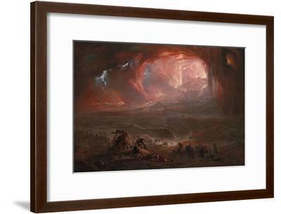 The Destruction of Pompei and Herculaneum-John Martin-Framed Giclee Print