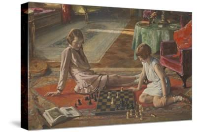 The Chess Players-Sir John Lavery-Stretched Canvas Print