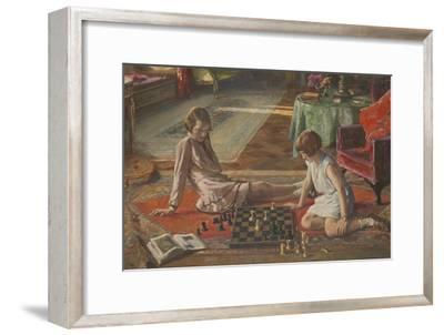 The Chess Players-Sir John Lavery-Framed Giclee Print