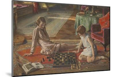 The Chess Players-Sir John Lavery-Mounted Giclee Print