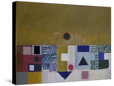 Square Motif, Blue and Gold: The Eclipse-Victor Pasmore-Stretched Canvas Print