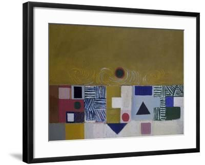 Square Motif, Blue and Gold: The Eclipse-Victor Pasmore-Framed Giclee Print