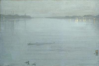 Nocturne: Blue and Silver - Cremorne Lights-James Abbott McNeill Whistler-Framed Giclee Print