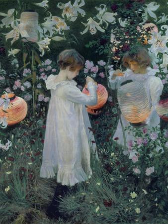 Carnation, Lily, Lily, Rose-John Singer Sargent-Stretched Canvas Print