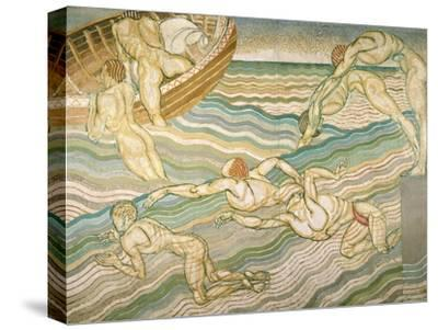 Bathing-Duncan Grant-Stretched Canvas Print