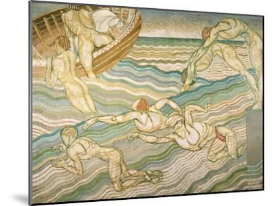 Bathing-Duncan Grant-Mounted Giclee Print