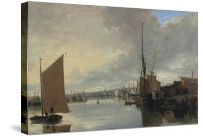 Yarmouth Harbour - Evening-John Crome-Stretched Canvas Print