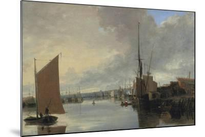 Yarmouth Harbour - Evening-John Crome-Mounted Giclee Print