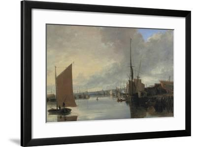 Yarmouth Harbour - Evening-John Crome-Framed Giclee Print