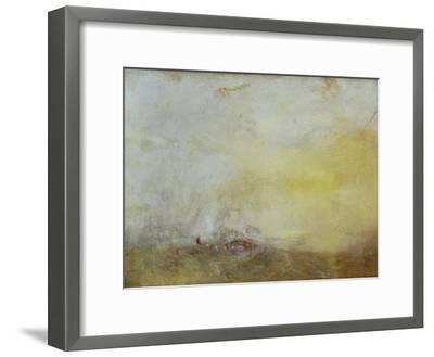 Sunrise with Sea Monsters-J^ M^ W^ Turner-Framed Giclee Print
