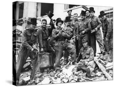 WWII London Rescue Workers- Uncredited-Stretched Canvas Print
