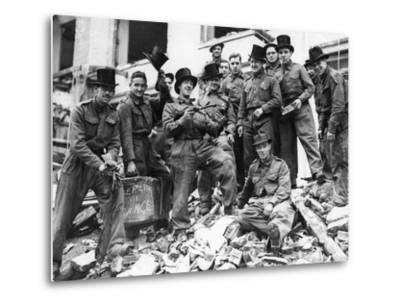WWII London Rescue Workers- Uncredited-Metal Print