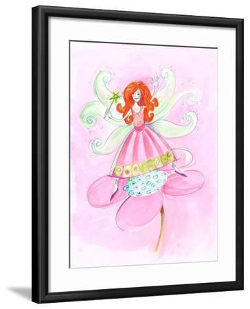 Fairy Red Hair--Framed Art Print