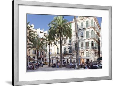 Restaurants and Street Cafes at Der Placa De La Llotja-Markus Lange-Framed Photographic Print