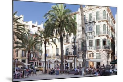 Restaurants and Street Cafes at Der Placa De La Llotja-Markus Lange-Mounted Photographic Print