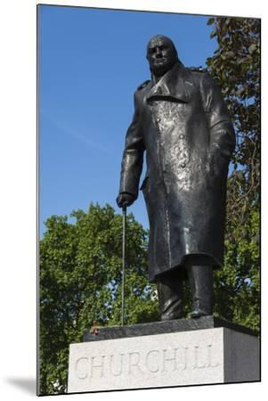 Statue of Sir Winston Churchill, Parliament Square, London, England, United Kingdom, Europe-James Emmerson-Mounted Photographic Print