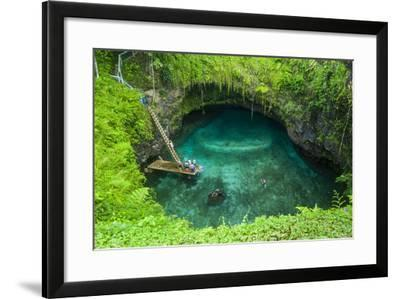To Sua Ocean Trench in Upolu, Samoa, South Pacific, Pacific-Michael Runkel-Framed Photographic Print