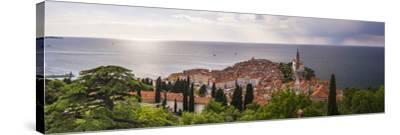 Piran and the Mediterranean Sea-Matthew Williams-Ellis-Stretched Canvas Print