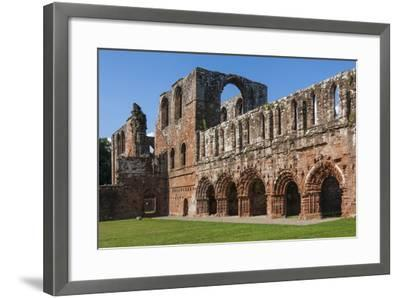 Elaborate Carved Stone Arches, 12th Century St. Mary of Furness Cistercian Abbey, Cumbria, England-James Emmerson-Framed Photographic Print