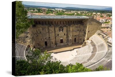 Amphitheatre and View over Town, Orange, Provence Alpes-Cote D'Azur, France, Europe-Peter Groenendijk-Stretched Canvas Print