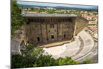 Amphitheatre and View over Town, Orange, Provence Alpes-Cote D'Azur, France, Europe-Peter Groenendijk-Mounted Photographic Print