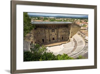 Amphitheatre and View over Town, Orange, Provence Alpes-Cote D'Azur, France, Europe-Peter Groenendijk-Framed Photographic Print