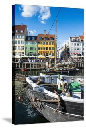 Fishing Boats in Nyhavn, 17th Century Waterfront, Copenhagen, Denmark, Scandinavia, Europe-Michael Runkel-Stretched Canvas Print