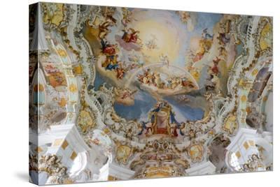 The Weiskirche (White Church), UNESCO World Heritage Site, Near Fussen, Bavaria, Germany, Europe-Robert Harding-Stretched Canvas Print