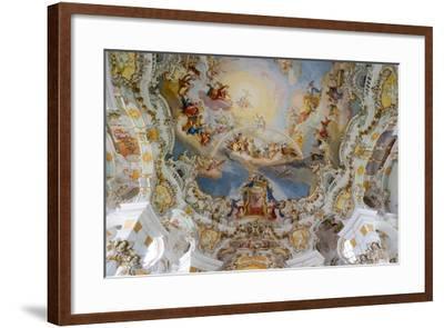 The Weiskirche (White Church), UNESCO World Heritage Site, Near Fussen, Bavaria, Germany, Europe-Robert Harding-Framed Photographic Print