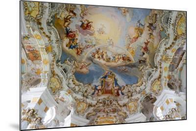 The Weiskirche (White Church), UNESCO World Heritage Site, Near Fussen, Bavaria, Germany, Europe-Robert Harding-Mounted Photographic Print