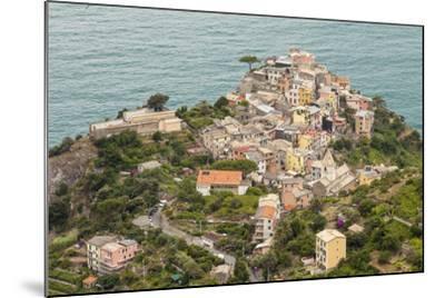 The Village of Corniglia in the Cinque Terre, UNESCO World Heritage Site, Liguria, Italy, Europe-Julian Elliott-Mounted Photographic Print