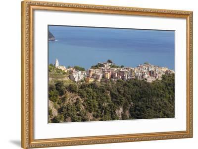 The Village of Corniglia in the Cinque Terre, UNESCO World Heritage Site, Liguria, Italy, Europe-Julian Elliott-Framed Photographic Print