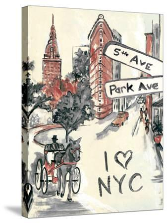 Artist's New York-Edith Lentz-Stretched Canvas Print