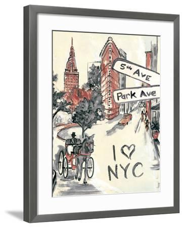 Artist's New York-Edith Lentz-Framed Premium Giclee Print