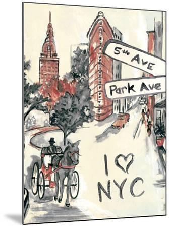 Artist's New York-Edith Lentz-Mounted Premium Giclee Print