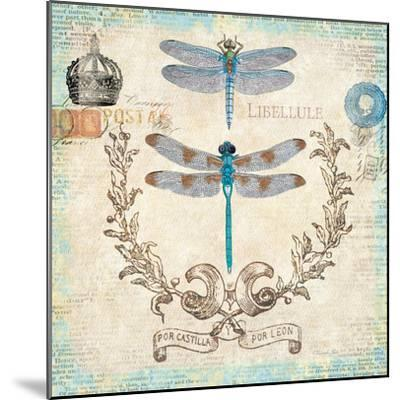 Victorian Dragonflies-Christopher James-Mounted Premium Giclee Print