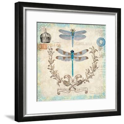 Victorian Dragonflies-Christopher James-Framed Premium Giclee Print